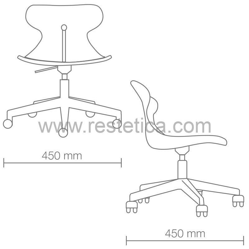 Sedia con seduta girevole Brio by Vismara basamento con ruote in acciaio