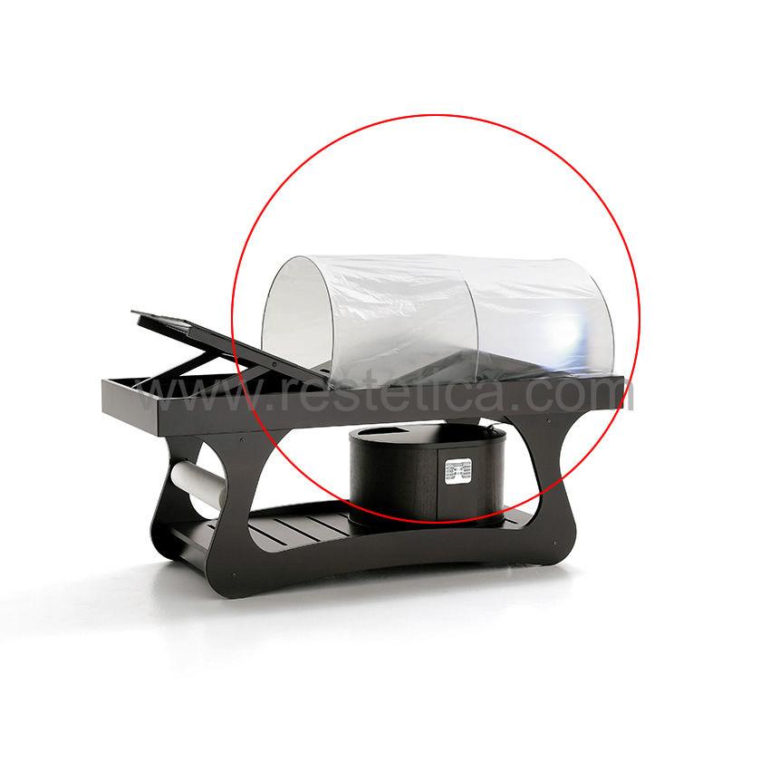 Cappottine di ricambio in cartene trasparente usa e getta per lettino trattamenti termale - Confezione 30pz