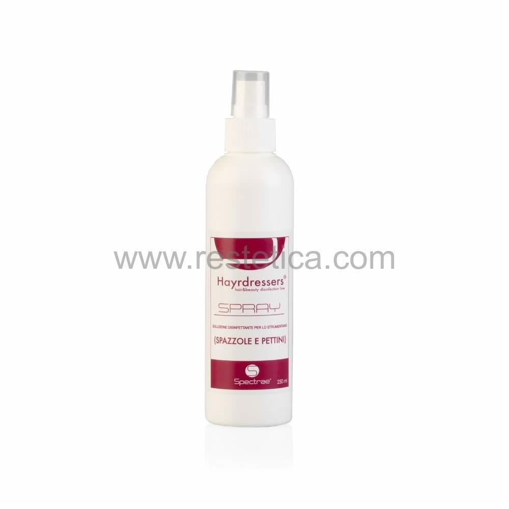 Spray HAYRDRESSERS disinfettante per spazzole e pettini contro virus e batteri