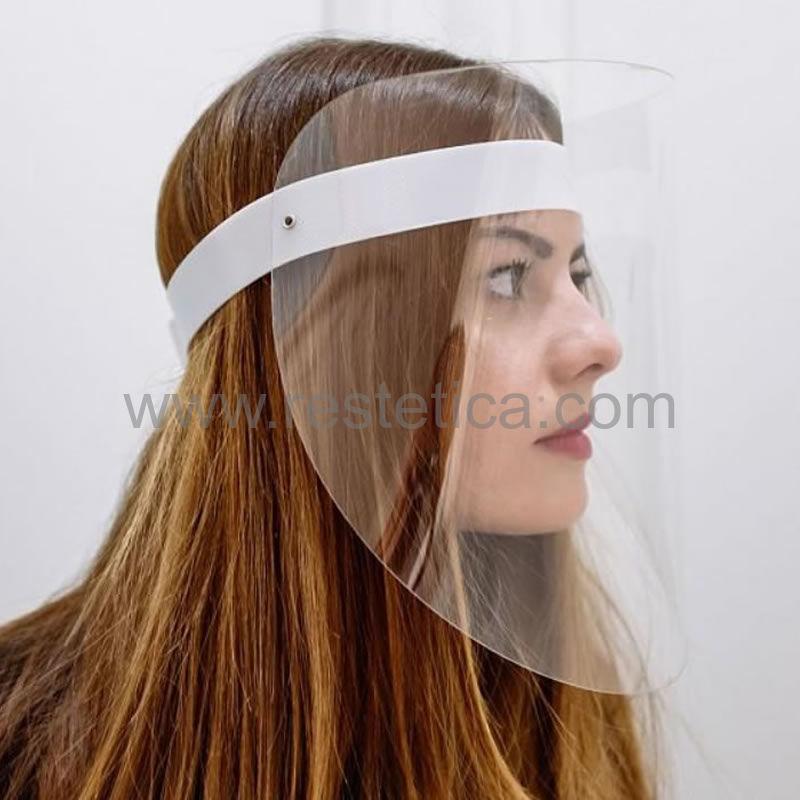 Visiera protettiva per occhi e viso di alta qualità pratica e leggera - confezione 1 visiera