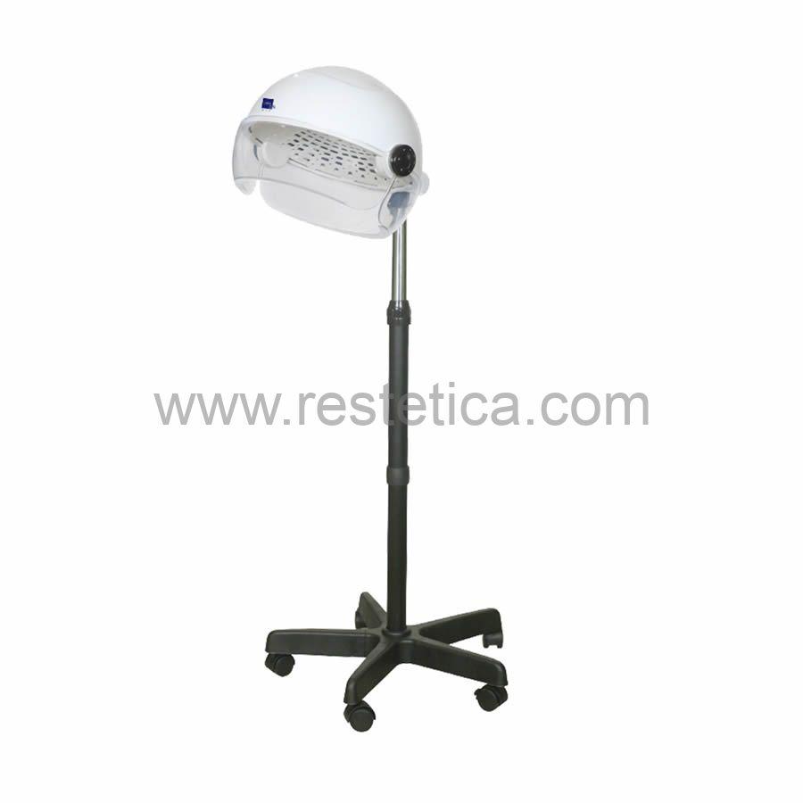 Casco asciugacapelli con timer 60min a 3 temperature - dotato di stativo con altezza massima di 120cm