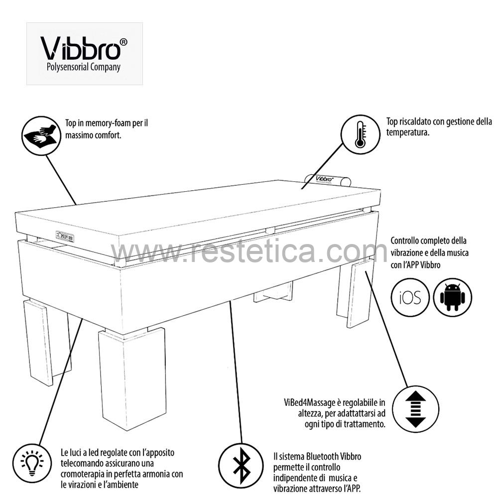 ViBed massage and relax bed with Harmonic Sound