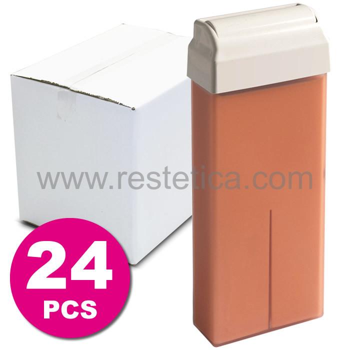 Cera a rullo al Titanio Rosa per tutti i tipi di pelle, anche le più sensibili da 100ml - scatola 24 rulli