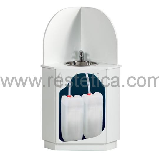 Lavabo Ad Angolo Con Mobiletto.Mobile Ad Angolo Con Struttura In Legno Completo Di Miscelatore E
