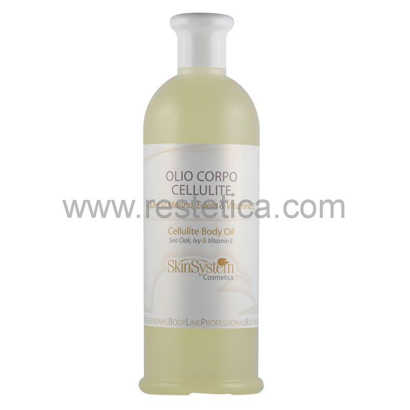 Olio corpo cellulite Quercia Marina - Edera - Vitamina E SkinSystem 0040020019 - Flacone 500ml