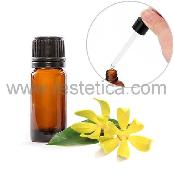 Olio essenziale puro al Ylang Ylang in boccetta da 10ml con contagocce