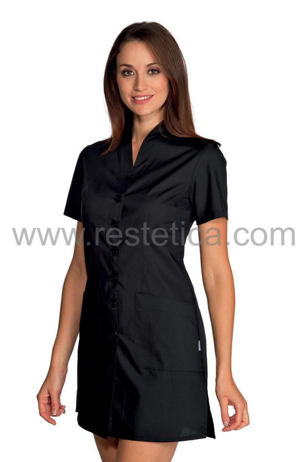 Casacca nera elegante con bottoni e pratiche tasche in cotone e poliestere dalla S alla XXL