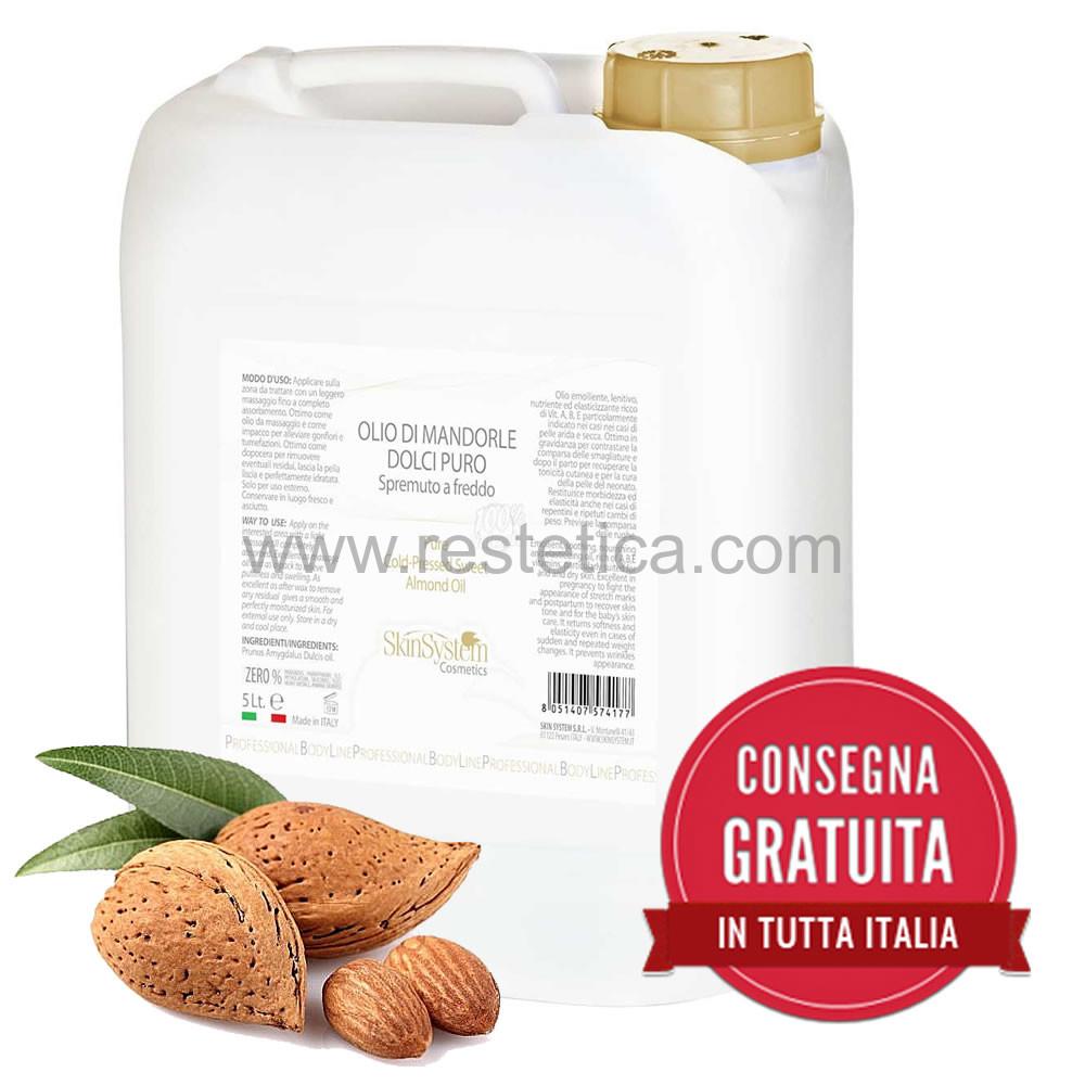 Tanica olio di mandorle dolci senza profumo 5 litri prodotto da Skin System