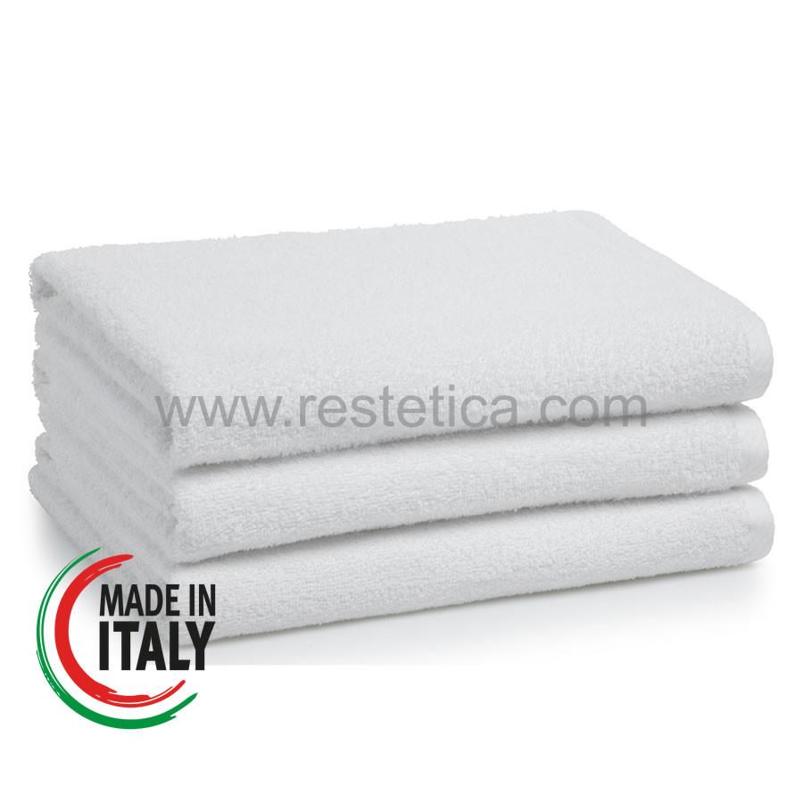 Asciugamano in spugna Viso 60x100cm 100% cotone Made in Italy