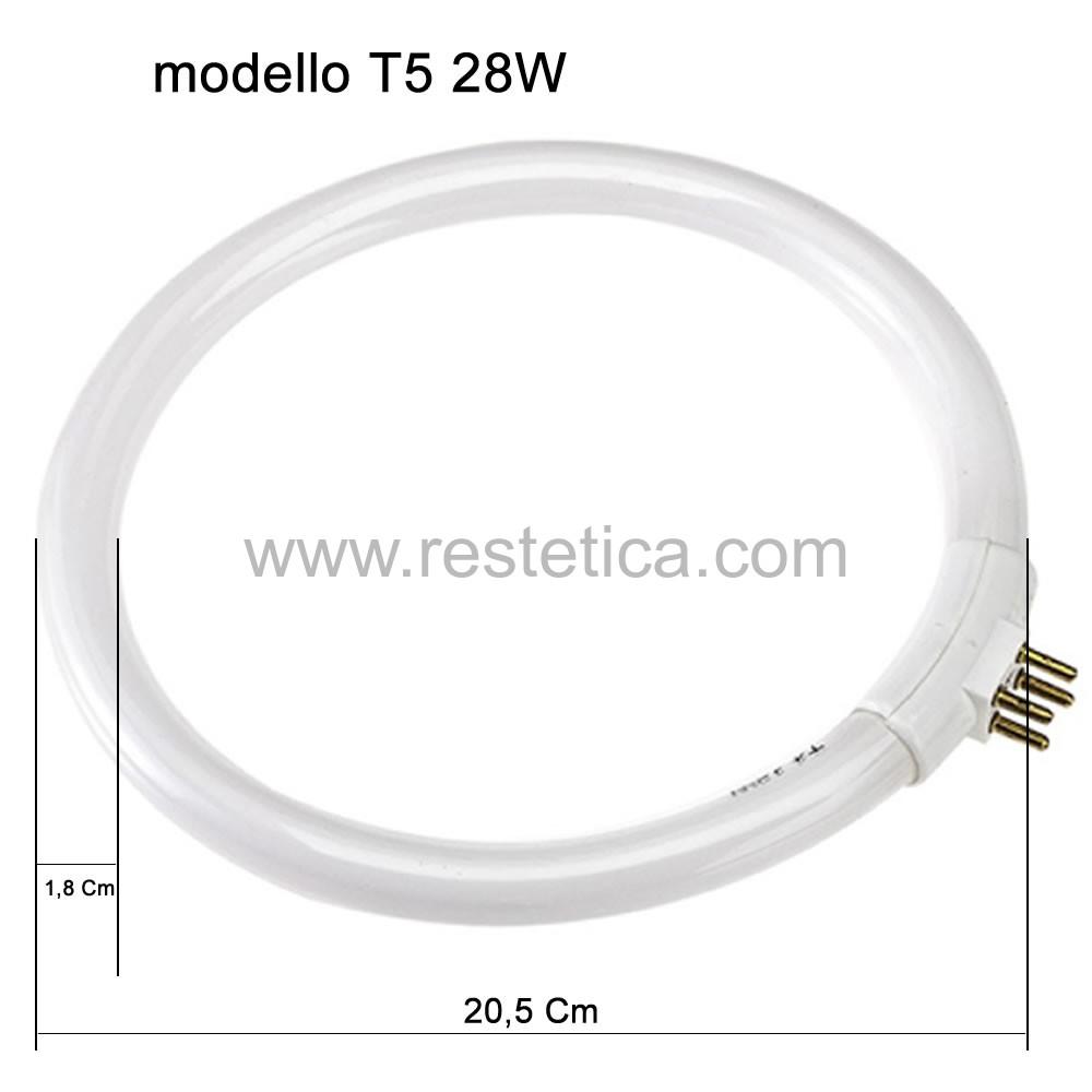 Neon di ricambio per lampada con lente D3 e D5 T5 28W