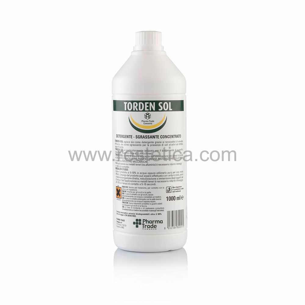 Detergente e sgrassante concentrato Torden Sol Pharma Trade per superfici dure, metalliche e macchinari - confezione 1lt